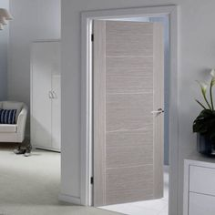 Bespoke Light Grey Vancouver Door Prefinished Puertas P Interior Door Styles, Gray Interior, Interior Barn Doors, Exterior Doors, Natural Interior, Interior Plants, French Interior, Interior Modern, Internal Doors Modern