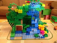 Mommy on the Money: Duplo Race Track with a Jungle Tunnel
