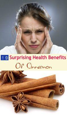 19 Surprising #Health Benefits of #Cinnamon  #HealthAndWellness #HealthyLiving