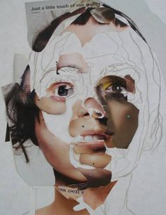 by Gabi Trinkaus Uses different cuttings of different faces to make up different parts of a face. It's quite creepy and surreal looking.