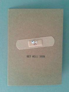 Handmade post card - get well soon