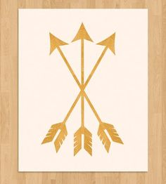 Gold Arrows Art Print by Pretty Chic on Scoutmob Shoppe. Love!