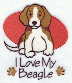 I Love My Beagle design (D3589) from www.Emblibrary.com