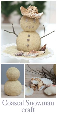 Cute and easy Snowman Craft - Beachy Style