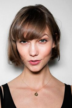 Short hair with blunt bangs bob perfection