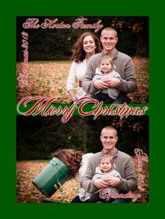 Pregnancy Announcement Christmas Card! Best ever!