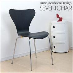 セブンチェア アルネヤコブセン黒 北欧デザイン家具 即納 インテリア 雑貨 Modern modern chairs ¥4000yen 〆05月07日
