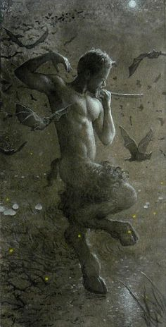 ☆ Taylor as 'Pan's Moonlight Dance with Bats :¦: Artist Todd Yeager ☆