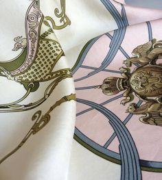 Hermes vintage silk scarf 1960's Designer Ledoux by weezahouchen1, $138.00