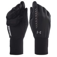 Keep your hands warm while riding with the Under Armour Windstopper Soft Shell Glove. These gloves are made to stand up to extreme weather and have grips and touch screen capabilites.