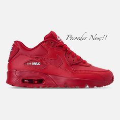 Swarovski Women s Nike Air Max 90 University Red Sneakers Blinged Out With  Authentic Clear Swarovski Crystals ec309e9969