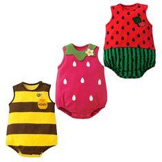 Barato Frutas & Animais Recém nascidos Macacão de bebê Macacão de Bebê Recém nascido da Menina do Menino Ternos Do Corpo Para Crianças Roupa das Crianças ropa bebe, Compro Qualidade Body diretamente de fornecedores da China: