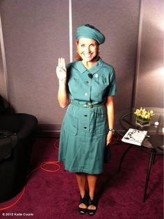 Love this photo of Katie Couric in a vintage Girl Scout uniform!