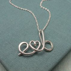 Okay so want this!! Way cute!    Two LoversCustom Initials Necklace by Laladesignstudio on Etsy, $65.00
