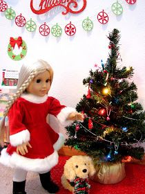 American Girl Doll Play: The Dolls are Getting Ready for Christmas!