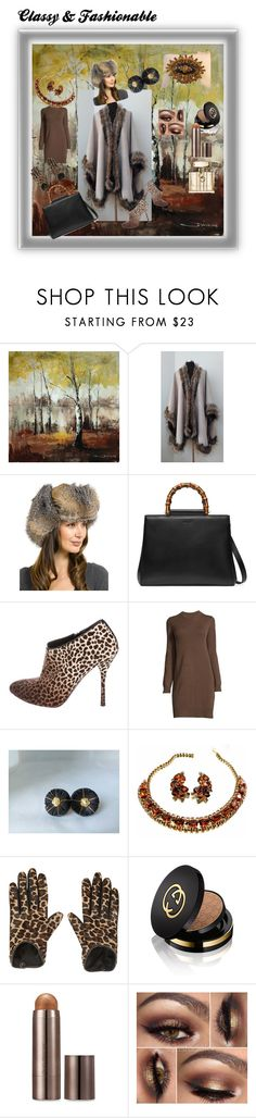 """Classy&Fashionable"" by nadya-mendik ❤ liked on Polyvore featuring Yosemite Home Décor, FRR, Gucci, Ambra, AGNELLE, Laura Mercier and vintage"