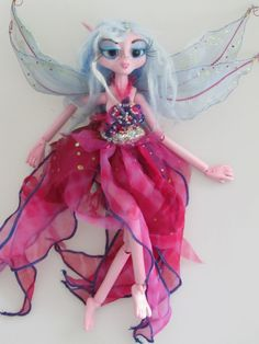 LILAC ball jointed fairy doll art doll ooak by Kaeriefaerie52, $95.00