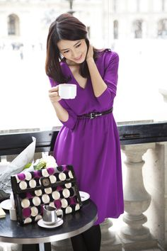 Chinese Actress Gao Yuan Yuan was in Paris a few weeks ago wearing next Fall 2013 Ready-to-Wear Collection.
