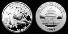 Chinese 10 Yuan Silver Panda Coins (video).