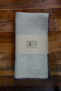 Set of 4 Linen napkins  FALL 2012 COLOURS by SMITHhandmade on Etsy, $45.00