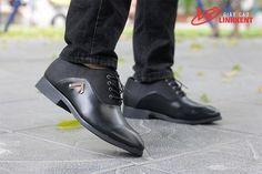 giày cao nam, giày màu đen
