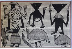 Mud Cloth from Ivory Coast     Dimensions: H: 78cm (30.7in)   W: 117cm (46.1in)     Description: Bogolan Senufo mud cloth wall hanging from Ivory Coast  Period: ca. 1950
