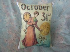 Vintage Print of Halloween Limited Addition Accent by Maisonvogue, $13.00