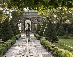 "Rockefeller Garden in Sleepy Hollow New York ""Bather Putting Up Her Hair"""