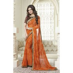 This beautiful Ayesha Takia style fancy printed saree is prettified with floral print. Shop online bollywood replica attire now! Printed Sarees, Indian Dresses, Salwar Kameez, Bollywood, Floral Prints, Sari, Fancy, Formal Dresses, Shopping