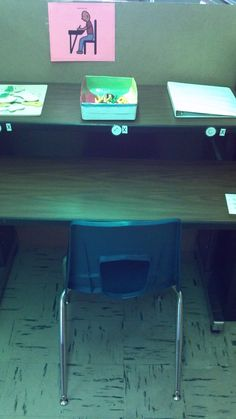 """Independent work station- has 3 pre-taught activities in a A/B/C setup. Usually set-up with one puzzle, one fine motor skill, and one academic task.  The student bring """"A"""" activity down onto work surface, completes, and then it goes under the shelf when completed. There is an """"X"""" next to each activity which the students puts in an """"All Done"""" template that is on the bottom right. The student then moves on to """"B"""" activity. When finished,  we check that it is correct and re-set for next…"""