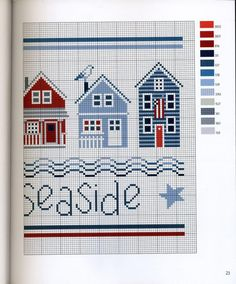 ru / Фото # 9 - * Marabout - Seaside At Cross Stitch - Ka - Gallery.ru / Фото # 9 – * Marabout – Seaside At Cross Stitch – Ka - Cross Stitch Sea, Cross Stitch House, Cross Stitch Needles, Cross Stitch Borders, Cross Stitch Samplers, Cross Stitch Charts, Cross Stitching, Cross Stitch Embroidery, Funny Cross Stitch Patterns
