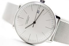 www.owenwilliams.ca Montre Max Bill automatique barres date Milanese : Junghans