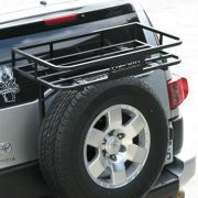 Our Garvin FJ Cruiser Trail Rack was designed to hold up to 75 lbs of your gear. It's perfect for an ice chest on your next trail run or other misc. gear to help free up space inside your FJ. This is an easy bolt-on design with no drilling required. Fj Cruiser Parts, Fj Cruiser Mods, Fj Cruiser Forum, Toyota Fj Cruiser, Land Cruiser, Fj Cruiser Accessories, 4x4 Accessories, Tire Rack, Truck Camping