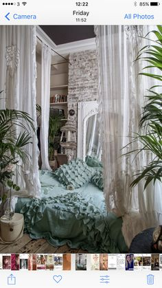 White Lace & Muslin House Gowns with hand made bed throe and cushions by @serasestra