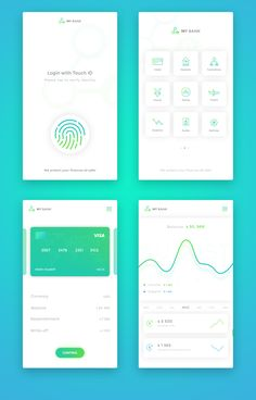 banking ux app ui design, mobile application design и app design in Ios App Design, Mobile Ui Design, Design Android, Android Ui, Visual Design, Graphisches Design, Site Design, Flat Design, Web Mobile