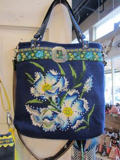 """<3.  Someday someone might be making one of my projects into a """"vintage"""" needlepoint bag.  Gotta love repurposing..."""