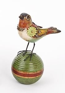 Buff Belly Warbler on Croquet Ball by James Mullan.  Love his work.