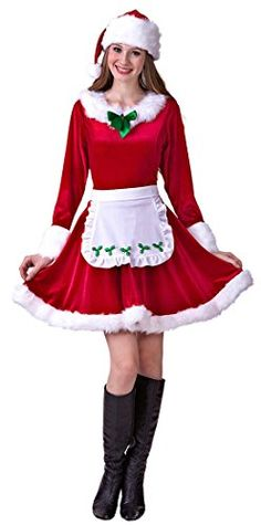HGM Costume Womens PlusSize Mrs Santa Claus RedWhiteGreen XLarge * For more information, visit image link-affiliate link. #HalloweenCostumes