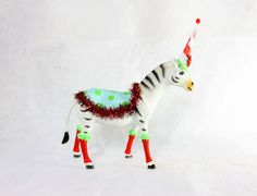 Party Animal Becca The Zebra  painted carnival by PaintedParade