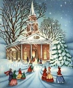 Christmas Church Scenes - Bing Images | Natale | Pinterest ...