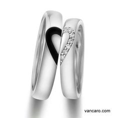 Couples Wedding Ring. I think it is cool because on their own they would look very modern.