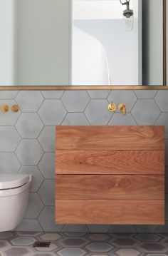 PohioAdams Double Bay House - those tiles, timber joinery, brass hardware...so nice seeing something a bit different.