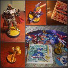 Shared by raymon182 #nes #microhobbit (o) http://ift.tt/1RwlCxW! Getting more Amiibos! And some new games too!   I got Tonker (Greninja) and Gingan (Ganondorf) this Monday. I pre-ordered Hyrule Warriors Legends at @gamestop and I checked for some Amiibos too. Of course I ended up getting these two XD  Today I called three different GameStops went to Walmart and I couldn't find Megaman Legacy Collection with the Gold Megaman Amiibo. So I checked Target at last and I found it! And also got…