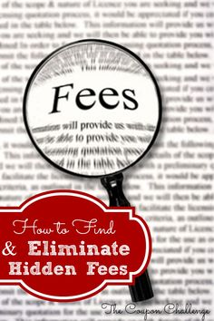 Did you know that you may have incurred undue debt just because you aren't paying attention to hidden fees in your accounts? This week we are going to show you how to eliminate hidden fee debts.Eliminate Hidden Fees