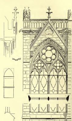 architectural style of homes architectural style history types of architectural style archite Classic Architecture, Architecture Drawings, Gothic Architecture, Architecture Details, Sainte Chapelle Paris, Saint Chapelle, Architectural Elements, Architectural Sketches, Theatrical Scenery