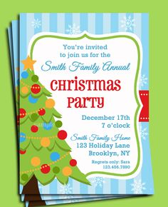 Gingerbread House Invitation Printable - Christmas Party ...