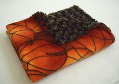Basketball Baby Blanket with Brown Minky Swirl by krystleandchloe, $24.95