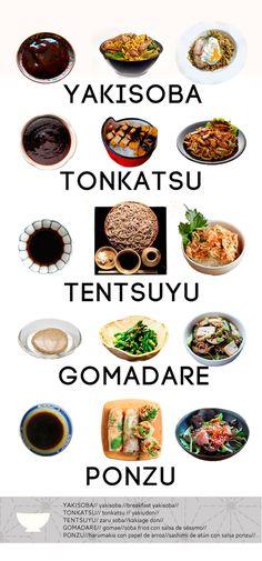 Variedades de Salsas japonesas
