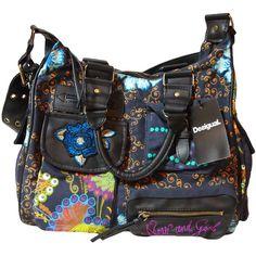 Desigual bag London Night blua found on Polyvore
