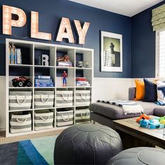 There's so much to love about this fun playroom, designed by @jandjdesigngroup! But our favorite part has to be the art nook. (Swoon!) LINK IN PROFILE to see the whole room + sourcing.